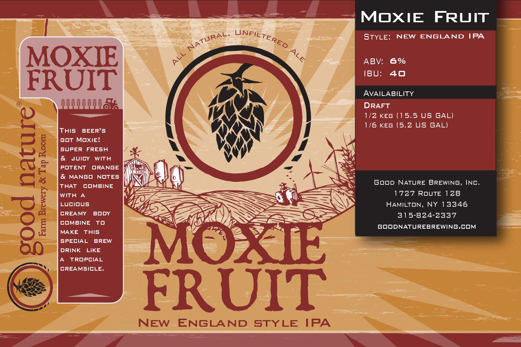 Good Nature Brewing | New Beer Release: Moxie Fruit