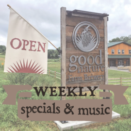 Weekly specials and music